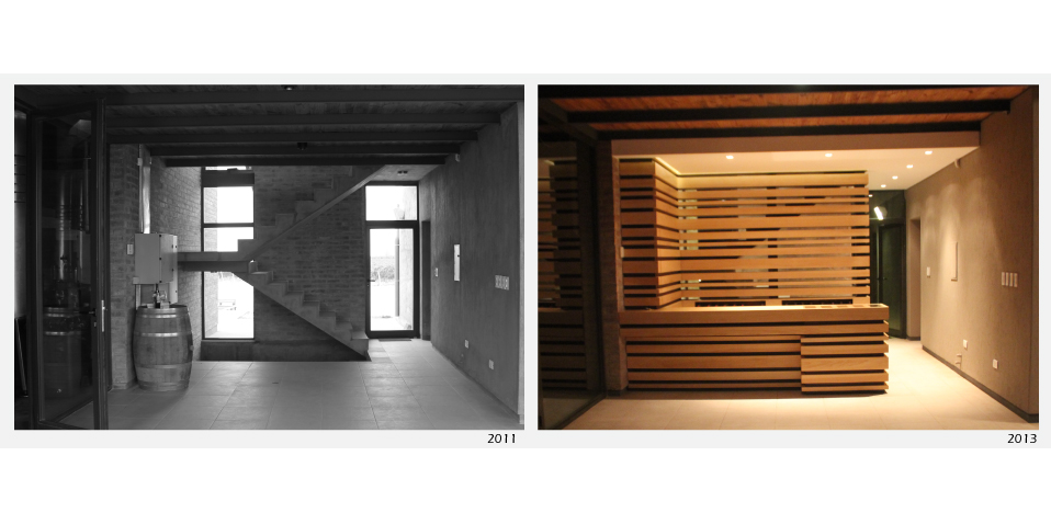 Entrance furniture - photographies before and after intervention