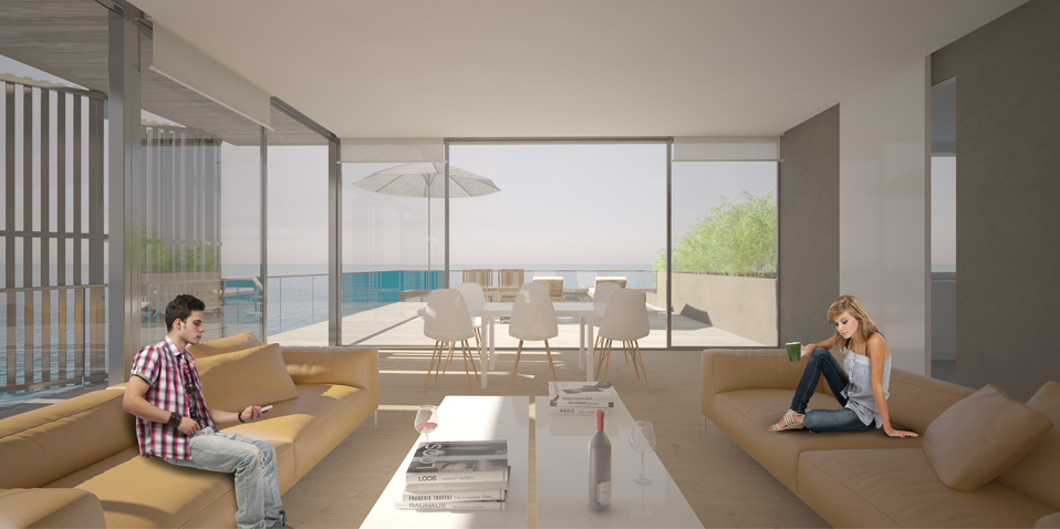 Internal visualization - Living room area